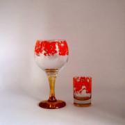 Набор Фужеров и стопок (праздник оранжевая)