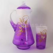 Кувшин+6стаканов (фиолетовый)