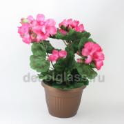 Герань /кашпо розовая 35 см
