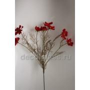 Космея букет красный 62 см