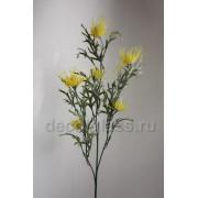 Репейник ветка жёлтая 63 см