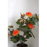 Роза/кашпо оранжевая 25 см