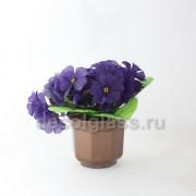 Примула/кашпо фиолетовая 13 см