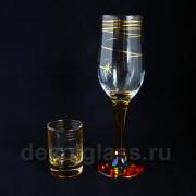 Набор Бокалов и стопок (падающая звезда)