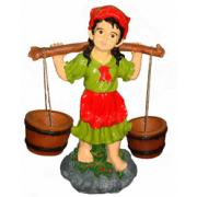 Девочка с 2 - мя кашпо 2.03 - фигура садовая (53см*40см)
