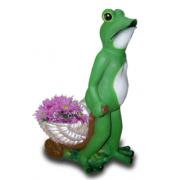 Жаба с ракушкой 11.05 - фигура садовая (48*34см)